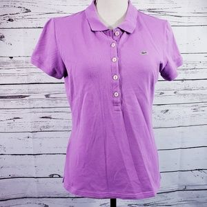 Lacoste Woman's Purple Polo Shirt Top (44)12